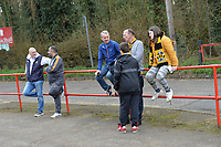 Cambridge Fans Arrive during Stevenage vs Cambridge United, Sky Bet EFL League 2 Football at the Lamex Stadium on 14th April 2018