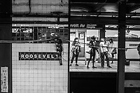Jackson Heights / Roosevelt Avenue station. Queens, New York.