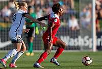 Boyds, MD. - Saturday, June 24 2017:  Amandine Henry, Francisca Ordega during a regular season National Women's Soccer League (NWSL) match between the Washington Spirit and the Portland Thorns FC at Maureen Hendricks Field, Maryland SoccerPlex.<br />  The Washington Spirit defeated the Portland Thorns FC 1-0.