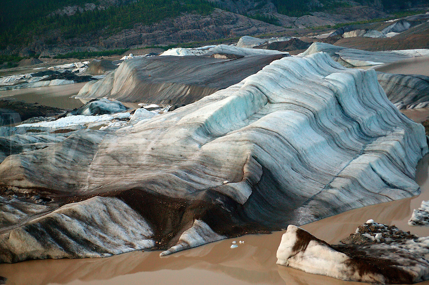 Icebergs from the Nizina Glacier, Wrangell-St. Elias National Park and Preserve, Alaska