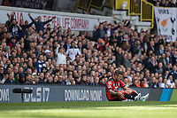 Jack Wilshere of Bournemouth appears to get injured during the Premier League match between Tottenham Hotspur and Bournemouth at White Hart Lane, London, England on 15 April 2017. Photo by Mark  Hawkins / PRiME Media Images.