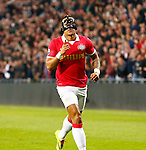 Nederland, Eindhoven, 29 maart 2014<br /> Eredivisie<br /> Seizoen 2013-2014 <br /> PSV-FC Groningen <br /> Memphis Depay van PSV juicht nadat hij de 1-0 heeft gescoord.
