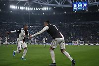 Cristiano Ronaldo of Juventus (R) celebrates after scoring a goal with Douglas Costa of Juventus <br /> Torino 6-1-2020 Juventus Stadium <br /> Football Serie A 2019/2020 <br /> Juventus FC - Cagliari Calcio <br /> Photo Federico Tardito / Insidefoto