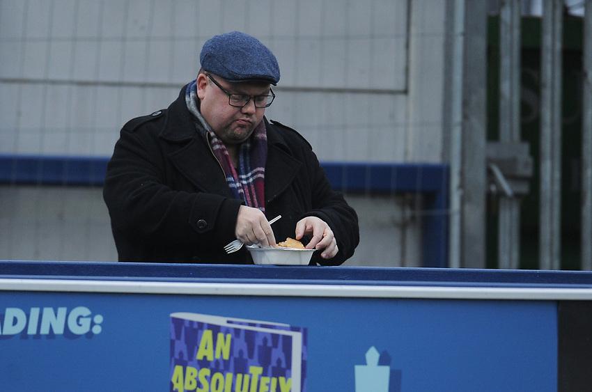 Blackpool fans enjoy the pre-match atmosphere <br /> <br /> Photographer Kevin Barnes/CameraSport<br /> <br /> The EFL Sky Bet League One - AFC Wimbledon v Blackpool - Saturday 29th December 2018 - Kingsmeadow Stadium - London<br /> <br /> World Copyright © 2018 CameraSport. All rights reserved. 43 Linden Ave. Countesthorpe. Leicester. England. LE8 5PG - Tel: +44 (0) 116 277 4147 - admin@camerasport.com - www.camerasport.com