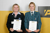Girls Mountain Biking finalists Adrienne Hooper & Katherine O'Neill. ASB College Sport Young Sportperson of the Year Awards 2007 held at Eden Park on November 15th, 2007.