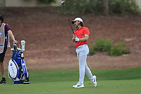 Tommy Fleetwood (ENG) during the 1st round of the DP World Tour Championship, Jumeirah Golf Estates, Dubai, United Arab Emirates. 21/11/2019<br /> Picture: Golffile | Fran Caffrey<br /> <br /> <br /> All photo usage must carry mandatory copyright credit (© Golffile | Fran Caffrey)