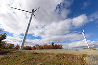 Colebrook South Wind Project. BNE Energy, Owner and The Ryan Company, Contractor. Ground Level Project Site and Equipment View. 16 October 2015