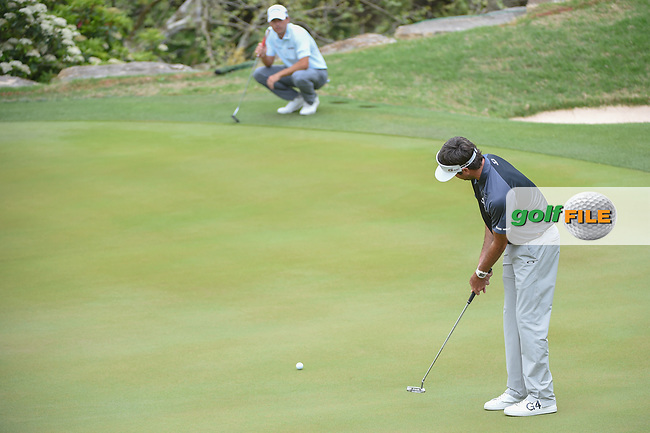 Bubba Watson (USA) watches his putt on 2 during day 5 of the World Golf Championships, Dell Match Play, Austin Country Club, Austin, Texas. 3/25/2018.<br /> Picture: Golffile | Ken Murray<br /> <br /> <br /> All photo usage must carry mandatory copyright credit (© Golffile | Ken Murray)