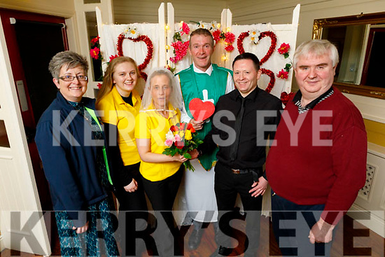 "Launch of the ""Say I Do"" Valentines night wedding fundraiser for the Kerry Cancer Support Group in the Brogue Inn on Monday. <br /> L to r: Breda Dyland (Kerry/Cork Cancer Group), Donna Quirke (Bridesmaid), Noreen O'Mahoney (Bride), Most Rev Vincent Murphy (Celebrant), Austin Fitzmaurice (Groom) and Dan Horan (Kerry/Cork Cancer Group)"