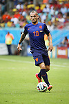 Wesley Sneijder (NED), JUN 13, 2014 - Football / Soccer : FIFA World Cup Brasil<br /> match between Spain and Netherlands at the Arena Fonte Nova in Salvador de Bahia, Brasil. (Photo by AFLO) [3604]