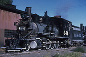 3/4 fireman's-side view of D&amp;RGW #340.<br /> D&amp;RGW