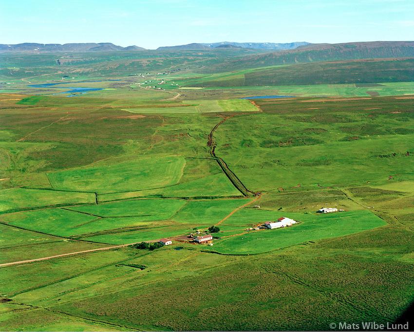 Jódísarstaðir séð til austurs, Þingeyjarsveit áður Aðaldælahreppur / Jodisarstadir viewing east, Thingeyjarsveit former Adaldaelahreppur.