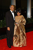 Oprah Winfrey and Stedman Graham arrive at the United States Department of State for a dinner hosted by U.S. Secretary of State Colin Powell celebrating the 2001 Kennedy Center Honorees Van Cliburn, Julie Andrews, Jack Nicholson, Quincy Jones, and Luciano Pavarotti at the U.S. Department of State in Washington, D.C. on Saturday, December 1, 2001..Credit: Ron Sachs / CNP