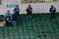 Wycombe fans greet their team ahead of the Sky Bet League 2 match between Plymouth Argyle and Wycombe Wanderers at Home Park, Plymouth, England on 30 January 2016. Photo by Mark  Hawkins / PRiME Media Images.