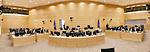 Nederland, Den Haag, Voorburg, 09-10-2013. ICC International Criminal Court. Interior, courtroom, rechtszaal,  advocaten, verdediging, aanklager, rechter, War Crimes, justice, Africa, <br /> foto Michael Kooren/Hollandse Hoogte
