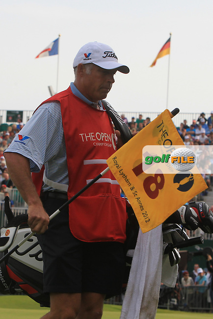 Steve Williams gets his hands on the 18th Flag a little early during round 3 of THE 141st OPEN CHAMPIONSHIP, Royal Lytham & St Annes GC,Lytham St Annes,Lancashire,England. 21/07/2012.Picture Fran Caffrey www.golffile.ie