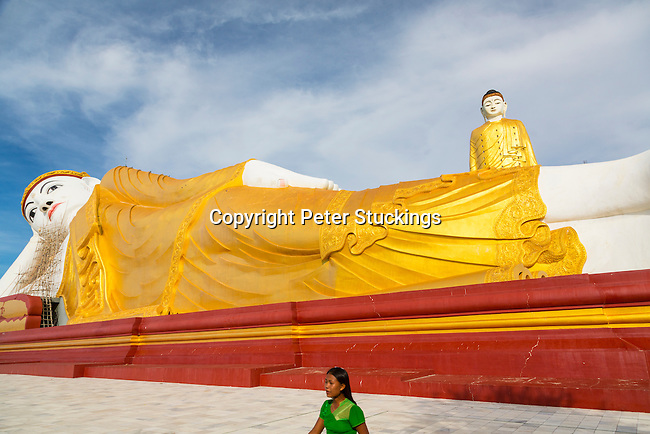 The giant Buddhas of Leykyun Setkyar, near Mandalay, Myanmar