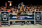 Anne-Sophie Godart of France riding Carlitto van't Zorgvliet competes at the Longines Speed Challenge during the Longines Hong Kong Masters 2015 at the AsiaWorld Expo on 13 February 2015 in Hong Kong, China. Photo by Juan Flor / Power Sport Images
