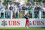 Paul Waring of England tees off the first hole during the 58th UBS Hong Kong Golf Open as part of the European Tour on 10 December 2016, at the Hong Kong Golf Club, Fanling, Hong Kong, China. Photo by Marcio Rodrigo Machado / Power Sport Images