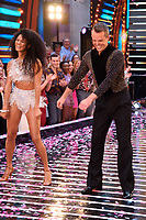 "Vick Hope and Graeme Swann<br /> at the launch of ""Strictly Come Dancing"" 2018, BBC Broadcasting House, London<br /> <br /> ©Ash Knotek  D3426  27/08/2018"