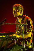 Tame Impala - Jay 'Gumbty' Watson on synth - performing live at The Hammersmith Apollo, London UK - 25 June 2013.   Photo credit: Justin Ng/Music Pics Ltd/IconicPix