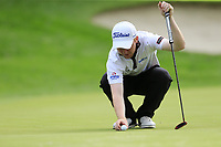 Gavin Moynihan (IRL) on the 6th green during Sunday's storm delayed Final Round 3 of the Andalucia Valderrama Masters 2018 hosted by the Sergio Foundation, held at Real Golf de Valderrama, Sotogrande, San Roque, Spain. 21st October 2018.<br /> Picture: Eoin Clarke | Golffile<br /> <br /> <br /> All photos usage must carry mandatory copyright credit (&copy; Golffile | Eoin Clarke)