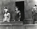 May 3, 1946 : Tokyo, Japan - Hideki Tojo at the International Military Tribunal for the Far East (IMTFE), also known as the Tokyo Trials, the Tokyo War Crimes Tribunal or simply as the Tribunal, was convened on May 3, 1946 to try the leaders of the Empire of Japan for crimes, committed during World War II. (Photo by Kingendai Photo Library/AFLO)