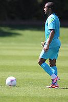 LONDRES, INGLATERRA, 24 JULHO 2012 - TREINO SELECAO BRASILEIRA - Lucas, jogador da Seleção Brasileira Olimpíca de futebol, durante treino para a partida contra o Egito, válida pela primeira rodada do Grupo C das Olimpíadas de Londres 2012, na Inglaterra. Treino no CT do Arsenal em Londres. (FOTO: GUILHERME DE ALMEIDA / BRAZIL PHOTO PRESS).