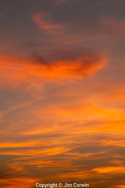 Cirrus clouds sunset with dramatic cloud patterns
