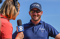 Andrew Landry (USA) is interviewed after winning the Valero Texas Open, AT&amp;T Oaks Course, TPC San Antonio, San Antonio, Texas, USA. 4/22/2018.<br /> Picture: Golffile | Ken Murray<br /> <br /> <br /> All photo usage must carry mandatory copyright credit (&copy; Golffile | Ken Murray)