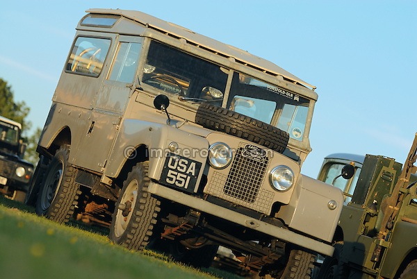 Very original historic 1950s Land Rover Series 1 88in Station Wagon. Dunsfold Collection Open Day 2009. NO RELEASES AVAILABLE.