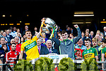 Deividas Uosis Kerry Minors celebrate with the Tom Markham Cup after defeating Derry in the All-Ireland Minor Footballl Final in Croke Park on Sunday.