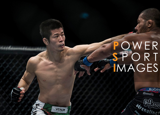 UFC Fight Night Macau 2014 - Hatsu Hioki of Japan and Ivan Menjivar