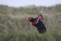 Michael Duignan (Royal Dublin) on the 13th tee during Round 2 of the Ulster Boys Championship at Portrush Golf Club, Portrush, Co. Antrim on the Valley course on Wednesday 31st Oct 2018.<br /> Picture:  Thos Caffrey / www.golffile.ie<br /> <br /> All photo usage must carry mandatory copyright credit (&copy; Golffile | Thos Caffrey)