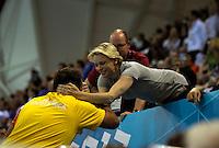 LONDRES, INGLATERRA, 31 JULHO 2012 - OLIMPIADAS 2012 - NATACAO - O nadador sul-africano Chad Le Clos, vence a prova dos 200 metros nado borboleta e conquista a medalha de ouro, nas Olimpiadas de Londres, nesta terca-feira, 31. (FOTO: PIXATHLON / BRAZIL PHOTO PRESS).