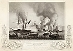 War junks destroyed in Anson's  Bay.        Date: 7 January 1841