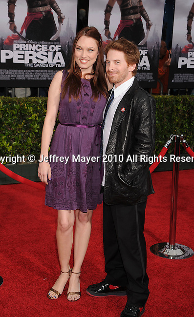 "HOLLYWOOD, CA. - May 17: Seth Green (R) and wife Clare Grant arrive at the ""Prince of Persia: The Sands of Time"" Los Angeles Premiere held at Grauman's Chinese Theatre on May 17, 2010 in Hollywood, California."