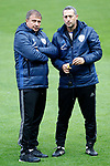 Israel's coach Elisha Levy with his assistant during training session. March 23,2017.(ALTERPHOTOS/Acero)