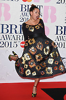 Gemma Cairney arrives for the BRIT Awards 2015 at the O2 Arena, London. 25/02/2015 Picture by: Steve Vas / Featureflash