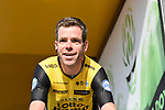 Bram Tankink (NED) Lotto NL-Jumbo at sign on before the start of the 104th edition of La Doyenne, Liege-Bastogne-Liege 2018 running 258.5km from Liege to Ans, Belgium. 22nd April 2018.<br /> Picture: ASO/Karen Edwards | Cyclefile<br /> <br /> <br /> All photos usage must carry mandatory copyright credit (&copy; Cyclefile | ASO/Karen Edwards)