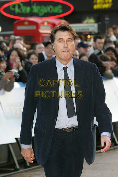 "BRYAN FERRY .World Premiere of ""Flashbacks of a Fool"" at the Empire, Leicester Square, London, England, April 13th 2008.half length  tie blue shirt suit jacket funny face mouth open black navy .CAP/ROS.©Steve Ross/Capital Pictures"