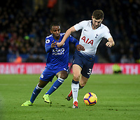 Leicester City's Ricardo Pereira battles with Tottenham Hotspur's Michel Vorm<br /> <br /> Photographer Hannah Fountain/CameraSport<br /> <br /> The Premier League - Leicester City v Tottenham Hotspur - Saturday 8th December 2018 - King Power Stadium - Leicester<br /> <br /> World Copyright © 2018 CameraSport. All rights reserved. 43 Linden Ave. Countesthorpe. Leicester. England. LE8 5PG - Tel: +44 (0) 116 277 4147 - admin@camerasport.com - www.camerasport.com