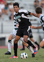 Number 8 ranked Charlotte beats number 16 ranked Coastal Carolina 1-0 on a goal by Thomas Allen in the 101st minute during the second overtime.  Pedro Ribeiro (10)