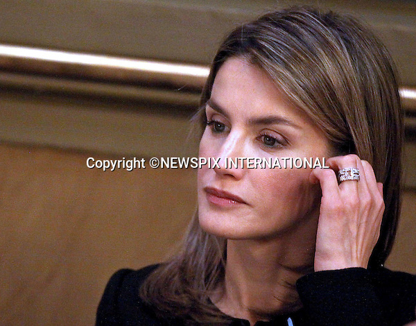 "CROWN PRINCESS LETIZIA.Prince Felipe and Princess Letizia of Spain attended the Luis Carandell Parliamentary Journalism Awards. Madrid_29/4/2009.Mandatory Credit Photo: ©NEWSPIX INTERNATIONAL..**ALL FEES PAYABLE TO: ""NEWSPIX INTERNATIONAL""**..IMMEDIATE CONFIRMATION OF USAGE REQUIRED:.Newspix International, 31 Chinnery Hill, Bishop's Stortford, ENGLAND CM23 3PS.Tel:+441279 324672  ; Fax: +441279656877.Mobile:  07775681153.e-mail: info@newspixinternational.co.uk"