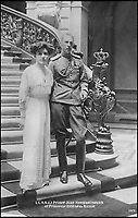 BNPS.co.uk (01202 558833)Pic: MarleneA.EilersKoenig/BNPS<br /> <br /> Prince Toann and Princess Helen, 1911.<br /> <br /> A Russian Grand Duke branded King George V a 'scoundrel' who 'did not lift a finger' to save the Romanov family in the revolution there of 1917, explosive diaries have revealed.<br /> <br /> The cousin of the overthrown Russian Royal family blamed the British King for their executions because he failed to grant them refuge.<br />  <br /> Dmitri Pavlovich no-holds-barred diary extracts have been published for the first time in a new book by respected historian Coryne Hall, To Free The Romanovs.