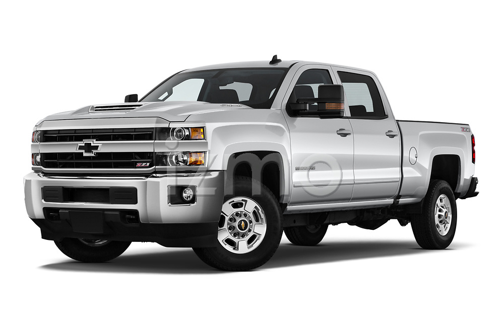 Stock pictures of low aggressive front three quarter view of 2019 Chevrolet Silverado-2500 LT 4 Door Pick-up Low Aggressive