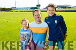 Eoghan Daly from Tralee attending the Austin Stack Park GAA Cul camp on Tuesday with his little brother Gearoid and dad Paul