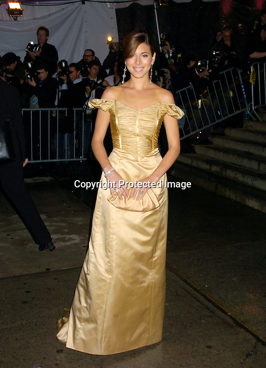 Jamie-Lynn DiScala ..at The Costume Institute Gala of the Metropolitan Museum of Art on april 26, 2004 ...Photo by Robin Platzer, Twin Images