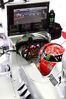 ATENCAO EDITOR IMAGEM EMBARGADA PARA VEICULO INTERNACIONAL - SAO PAULO, SP, 06 OUTUBRO DE 2012 - FORMULA 1 GP JAPAO -  O piloto alemao Michel Schamacher da equipe Mercedes GP durante treino classificatorio nesta sabado, 06, para o Grande Premio do Japao que acontece amanha em Suzuka no Japao. FOTO: PIXATHLON / BRAZIL PHOTO PRESS)