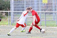 Pascal Wicht (SKV Büttelborn) gegen Dennis Plotzki (Hoechst) - Büttelborn 31.10.2017: SKV Büttelborn vs. TSV Höchst